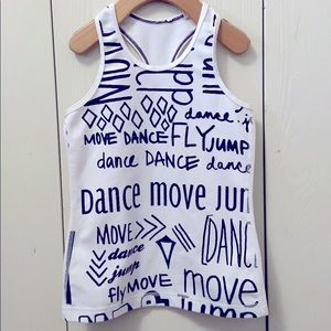 Ivivva White Racerback Tank Top with Plum Letters